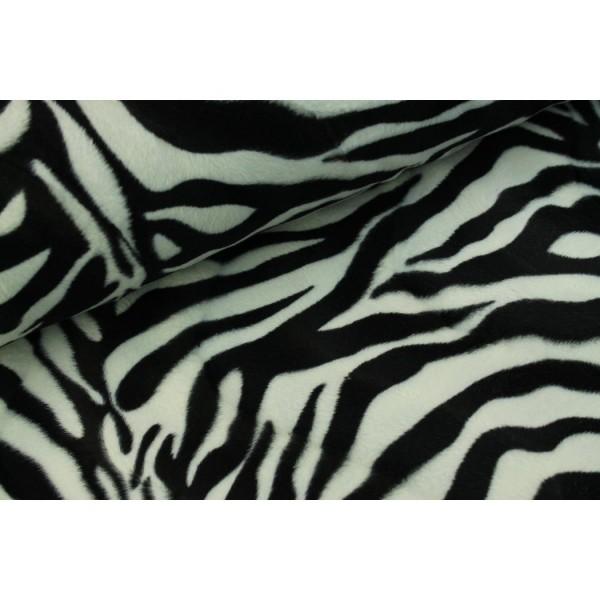 Fellimitiat Tierdruck - Zebra groß schwarz/weiss