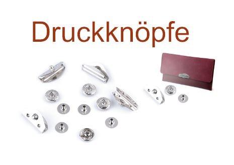 Druckknöpfe Design lang - 10x20 mm - silber (3 Sets)