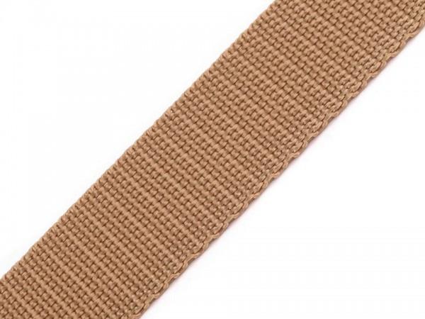 Gurtband - PP - 30 mm - naturbraun