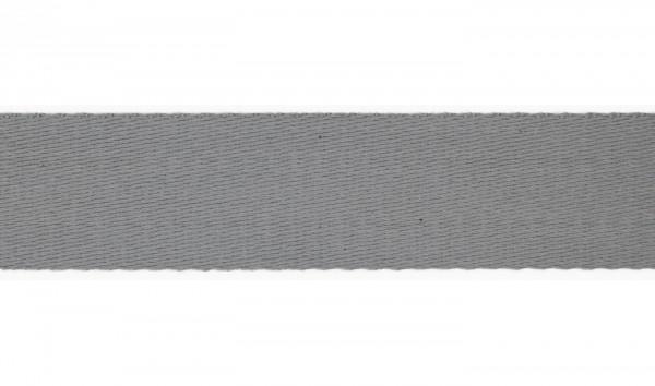 Baumwoll-Gurtband Soft - 40mm - unifarben - silbergrau