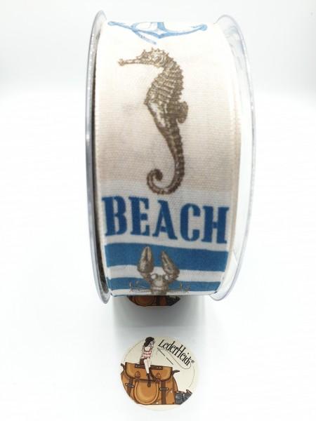 """Dekoband """"Beach"""" - 40mm"""