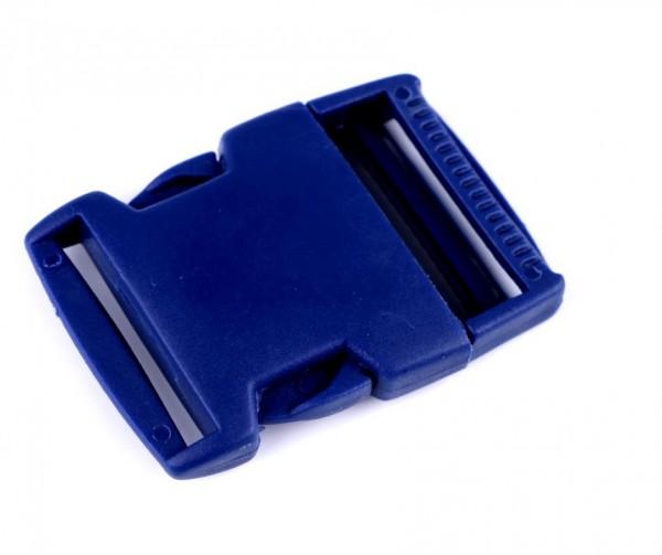Kunststoff- Steckverschluss - 30mm - blau