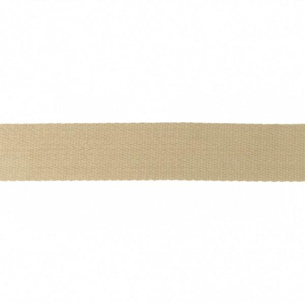 Baumwoll-Gurtband Soft - 40mm - unifarben - sand