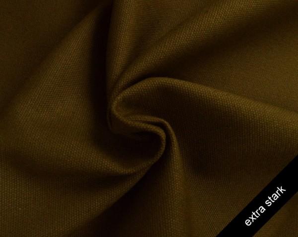 Canvas - Stoff unifarben 100% Baumwolle - extra stark - braun
