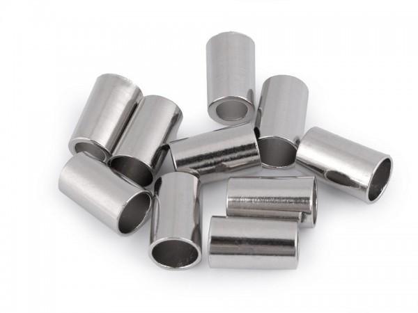 Metall-Endkappen - Ø5,5 mm - silberfarben(4 Stück)