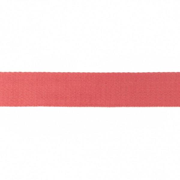 Baumwoll-Gurtband Soft - 40mm - unifarben - koralle