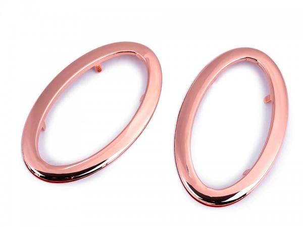 Taschengriffe aus Metall 7x12 cm - kupfer (oval) - 2 Sets