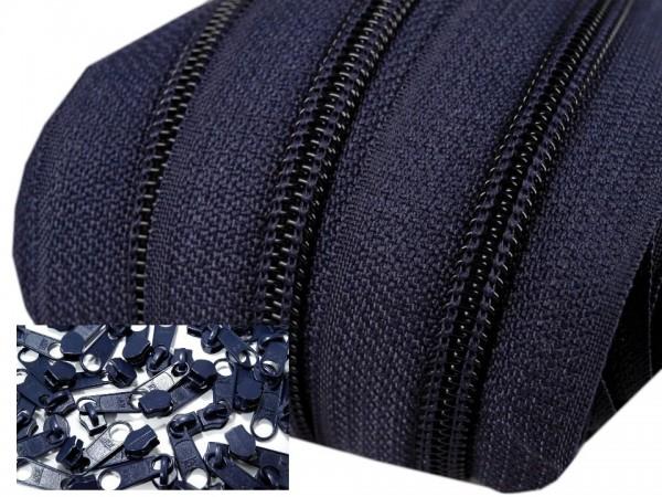 Endlos-Reissverschluss 5mm - dunkelblau - 3m oder 5m