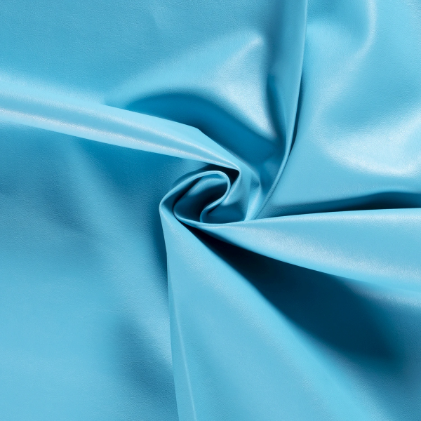 Kunstleder Mila - Farbe aquablau - 0,5 Meter