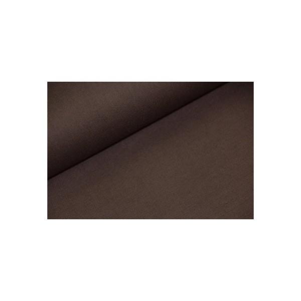 Baumwollstoff unifarben - dunkelbraun