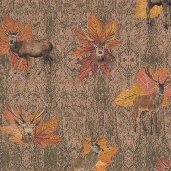 "Dekostoff Gobelin ""Deer Fall Leaves"""