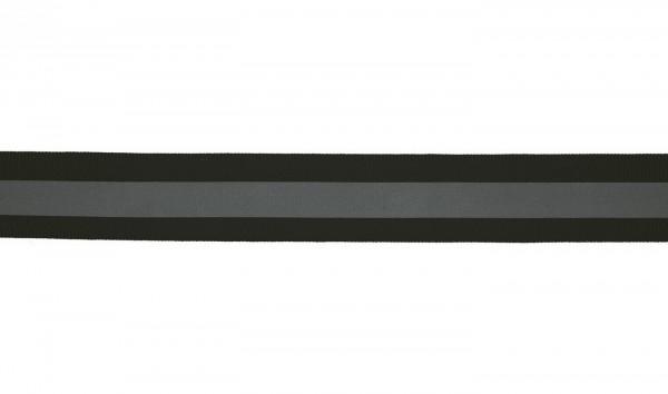Reflektorband 25mm- schwarz/grau