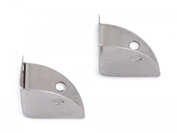 Taschenecken - Kantenschützer - silberfarben - 22x22x22 mm (4 Stück)