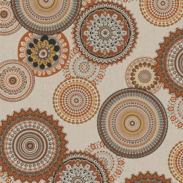 "Canvas Leinenlook - ""Mandala"" - beige/braun"