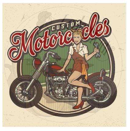 """Panel """"Custom Motorcycles1"""" aus Kunstleder (876) - in versch. Größen erhältlich -"""