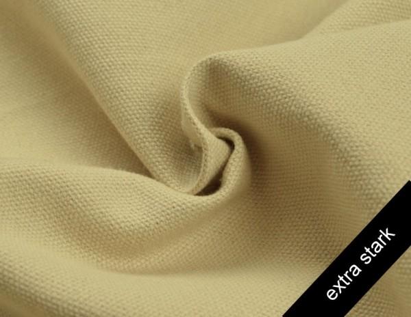 Canvas - Stoff unifarben 100% Baumwolle - extra stark - sand