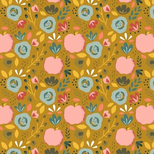 Baumwoll-Popeline - Easy Peachy - ocker