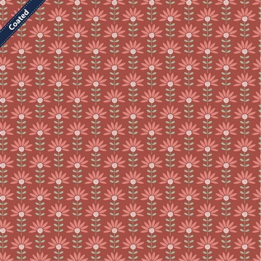 """Beschichtete Baumwolle - """"Graphic Flower"""" - terra"""