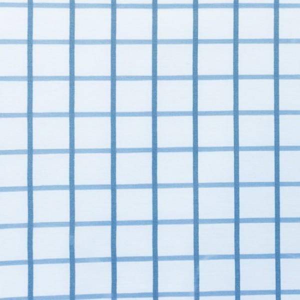 Canvas - Stoff bedruckt - Dekostoff - Gitter blau - 150 cm breit - 220g/m²