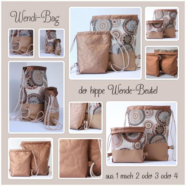 "Nähset ""WENDI-Bag"" - Mandala - alle 3 Größen in einem Set - inkl. E-Book"