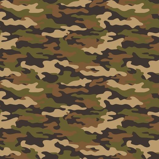 "Baumwoll Popeline ""Camouflage"" - army beige"