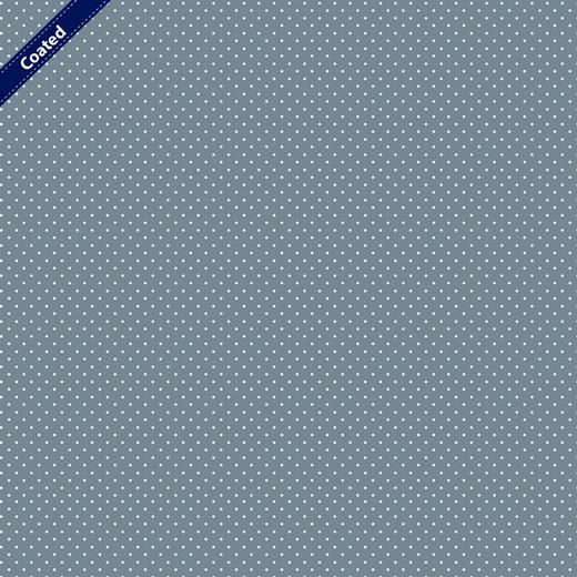 Beschichtete Baumwolle - Mini Dots - grau/weiss
