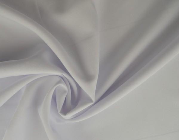 Polyesterstoff gewebt - 100% Polyester - 150 cm breit - weiß