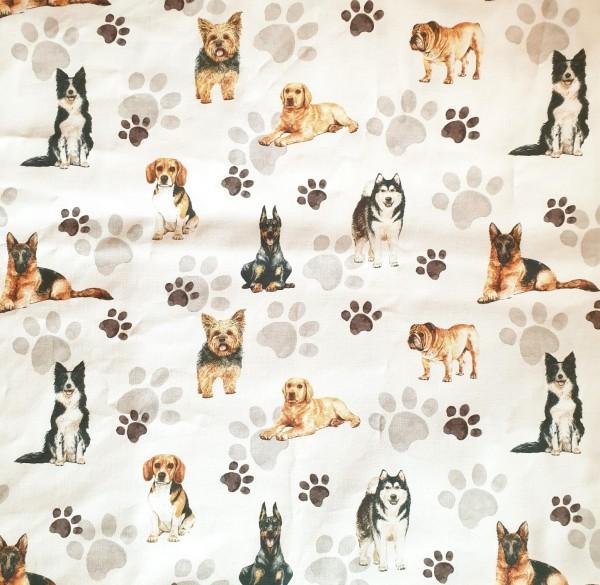 "Baumwolll-Canvas ""Dogs"" - EP Lederheidi"
