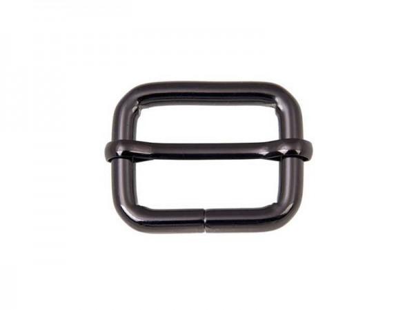 Stegschnalle - schwarz - 20mm (5 Stück)