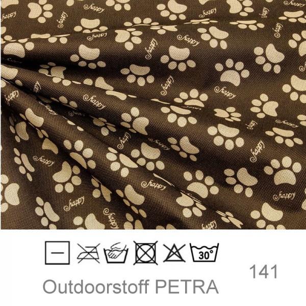 "Outdoorstoff ""Petra"" - Pfoten braun (141)"