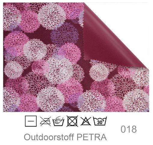 "Outdoorstoff ""Petra"" - Blumen purple (018)"