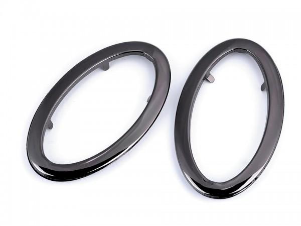 Taschengriffe aus Metall 7x12 cm - schwarz (oval) - 2 Sets