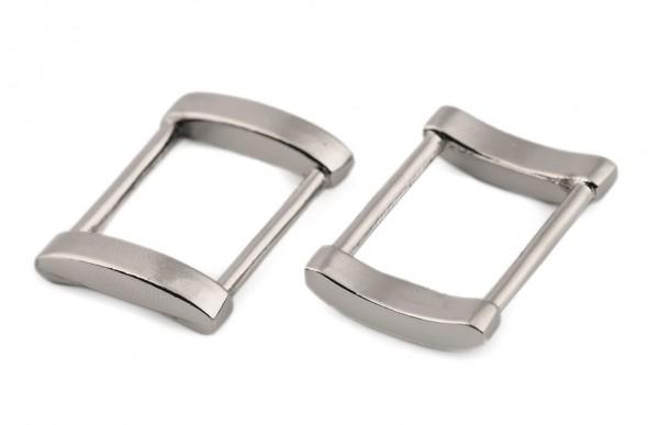Metallschlaufen - 20mm - silberfarben (2 Stück)