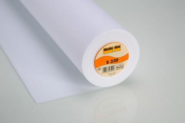 Vlies - Schabrackeneinlage S320 - 90 cm breit - weiß