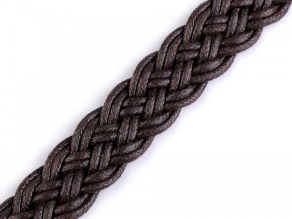 Gurtband geflochten Breite 20 mm - dunkelbraun