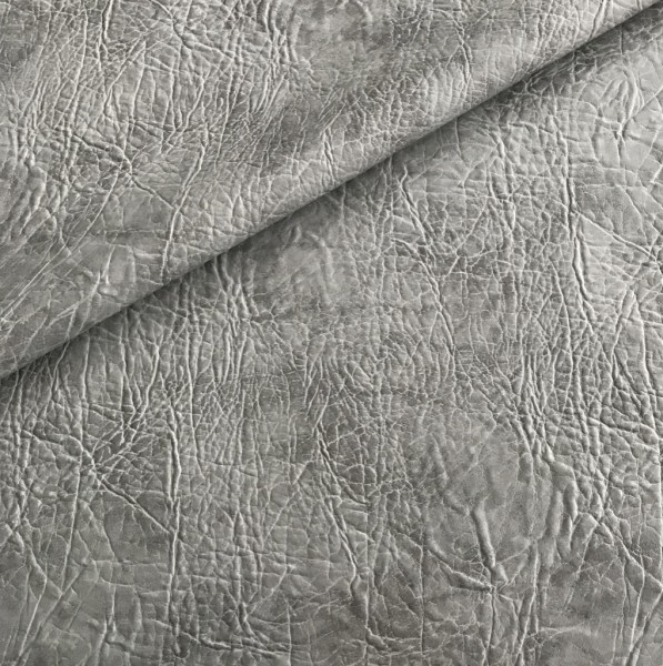 Kunstleder ROCKS - grau- ca. 140 cm breit - 0,5m