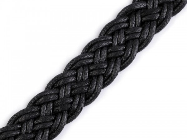 Gurtband geflochten Breite 20 mm - schwarz
