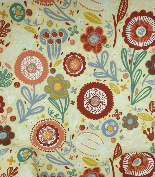 "Canvas Leinenlook - ""Flower Bouquet"""