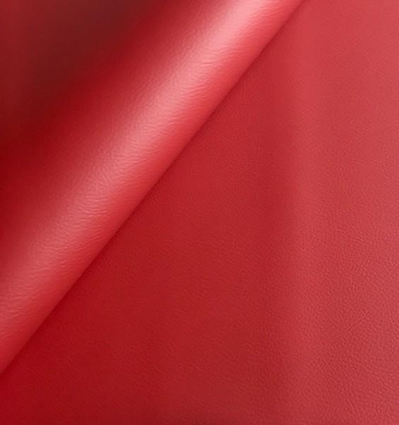 Kunstleder BASIC - leicht strukturierte Oberfläche - 0,5m - rot