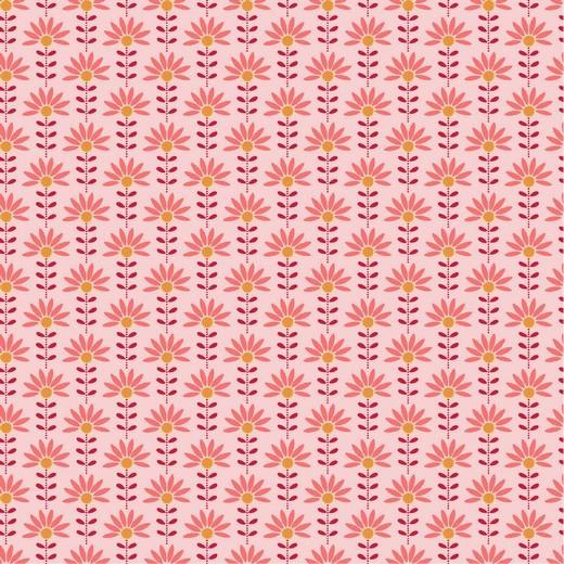 "Baumwoll-Popeline ""Graphic Flower"" - rosa"