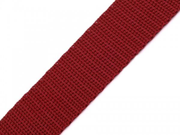 Gurtband - PP - 30 mm - dunkelrot