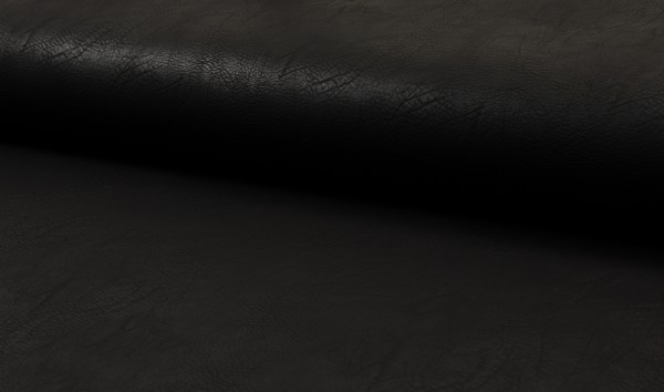 Kunstleder Vintage - schwarz