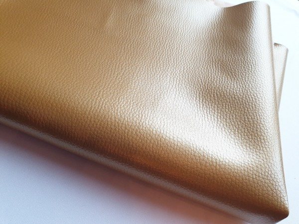 Kunstleder BASIC - leicht strukturierte Oberfläche -gold-metallic