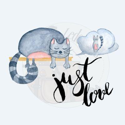 """Panel """"Cat just love"""" aus Kunstleder - in versch. Größen erhältlich -"""