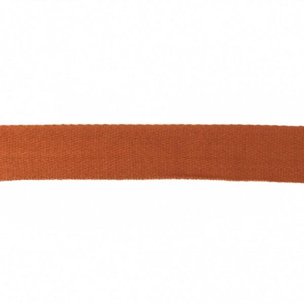 Baumwoll-Gurtband Soft - 40mm - unifarben - rost