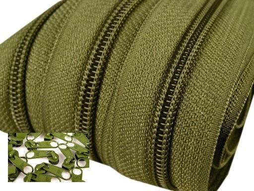 Endlos-Reissverschluss 5mm - avocadogrün- inkl. 4 Zipper/Meter
