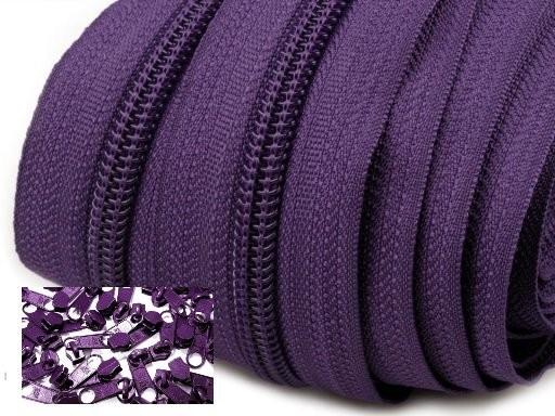 Endlos-Reissverschluss 5mm - pflaume - inkl. 4 Zipper/Meter