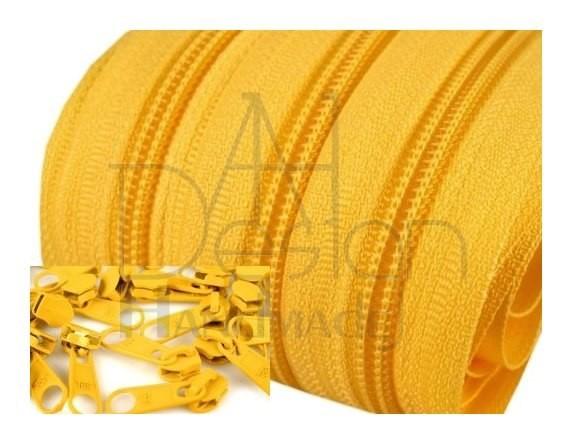 Endlos-Reissverschluss 5mm - gelb - 3m oder 5m