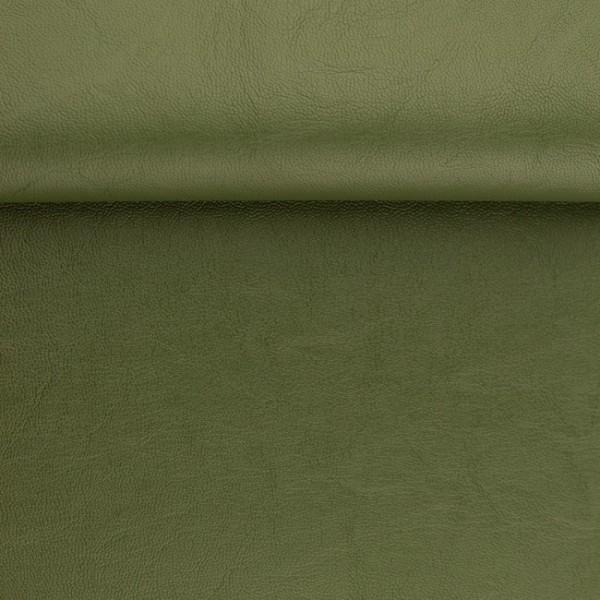 """Kunstleder """"RETRO"""" - olivgrün - 0,5 m"""