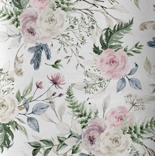 "Baumwolll-Canvas ""lovely Flowers"" watercolour - EP Lederheidi"